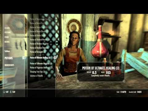 What is best healing potion - Skyrim