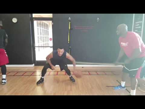 Drill of the week: weak hand dribble with band resistance