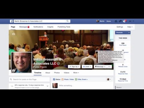 Having your Facebook business page follow other businesses