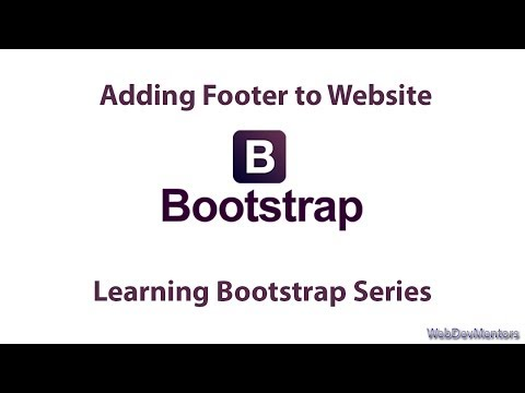 Adding Footer to Website - Learning Bootstrap