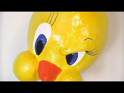 How 2 Make Sweet Tweety Bird with Paper Mache