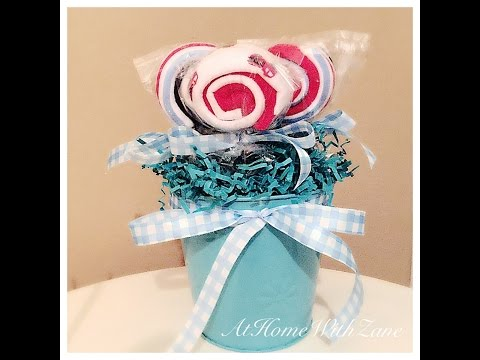 🍭 Baby Washcloth lollipop bouquet - How to create a unique baby gift