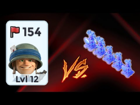Boom Beach - Level 12 Rifles vs 5 Boosted Ice (PvP)
