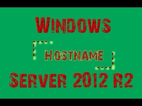 Windows Server 2012 R2 Hostname, Servername, Computername ändern CMD