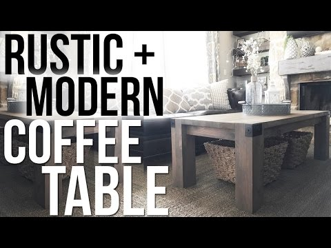 Rustic + Modern Coffee Table | Shanty2Chic