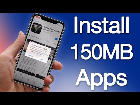 How to Download Apps Over 150MB Without WiFi on iPhone Running iOS 11