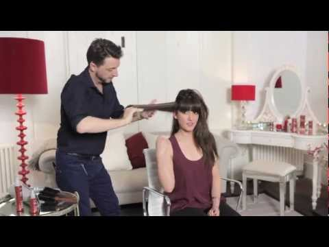 How to blowdry hair perfectly straight
