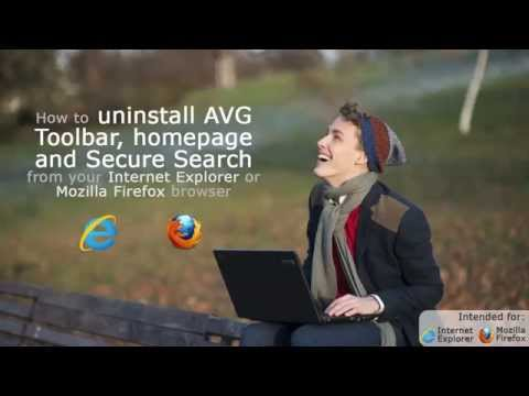 How to remove the AVG Secure Search toolbar from Internet Explorer and Mozilla Firefox