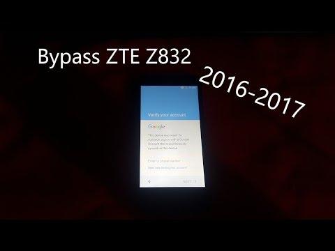 Bypass Google Account ZTE z832 6.0.1 And Unlock - FRP Sonata 3 - Method 2017