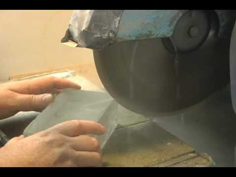 Cutting glass with a diamond saw