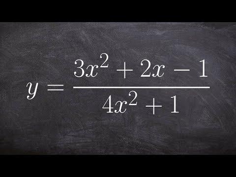 Find vertical and horizontal asymptotes of a rational function