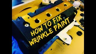 How To Fix Wrinkle Paint | Wrinkle Paint Not Wrinkling |