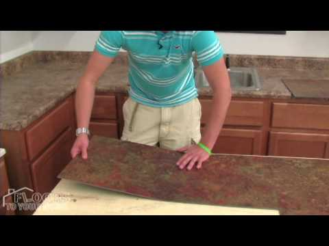 Easy Glue Down Tile Installation - Vinyl Flooring