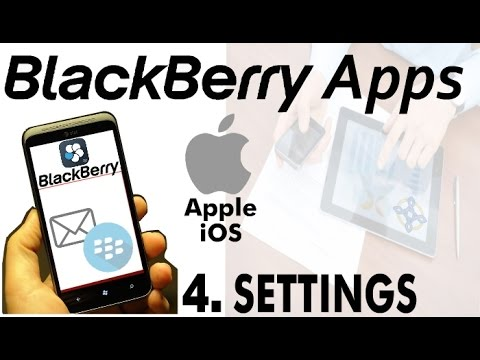 Blackberry Work Email Settings and Alerts for Apple IOS Devices