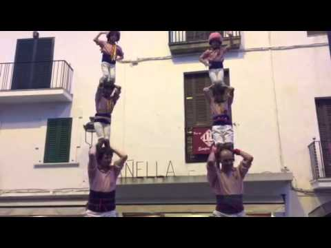 Pilars de comiat. Xiquets de Tarragona. Sitges 29/08/2015.