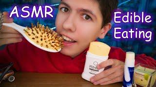 Download ASMR EATING EDIBLE HAIRBRUSH,GLUE,CANDLES,DEODORANT ~ Most Popular food ~ АСМР Итинг   Мукбанг   еда Video