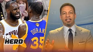 Chris Broussard on Kevin Durant pacing to have a better career than LeBron James | NBA | THE HERD