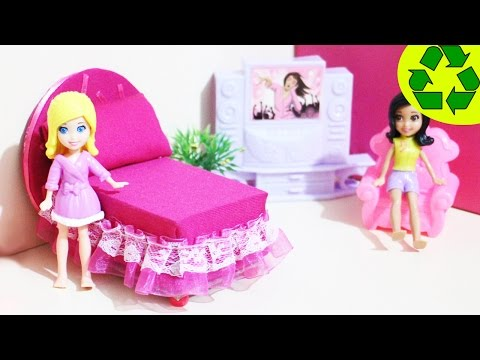 How to make a mini bed for your mini doll- Doll Crafts - simplekidscrafts