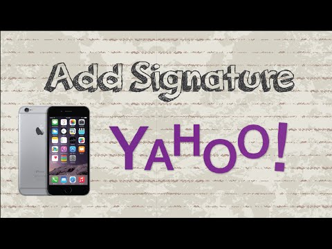 How to add signature in Yahoo Mail | Mobile App (Android & Iphone)