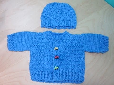 How to Knit newborne baby sweater part #1. With Ruby Stedman