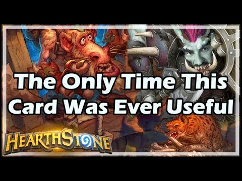 [Hearthstone] The Only Time This Card Was Ever Useful