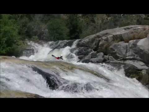 Kayaking Dinkey Creek Waterfall section day 2 in California