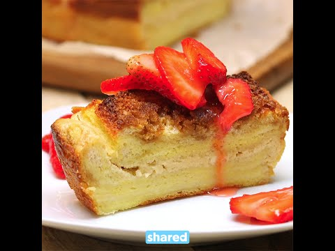 Cream Cheese Stuffed French Toast Loaf