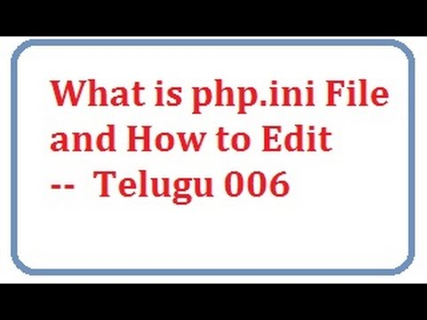 what is php.ini file and how to edit Telugu 06-vlr training