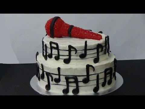 how to make music cake