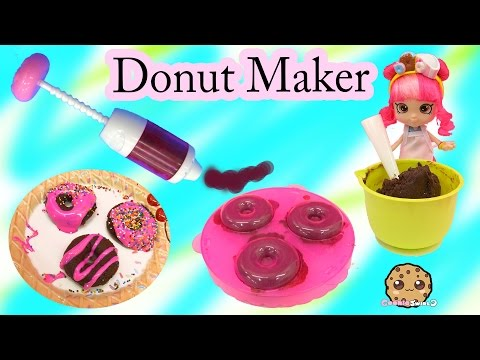 NO BAKE Rainbow Sprinkles DONUT MAKER Food Playset Kit with Shoppies Doll Donatina - Cookieswirlc