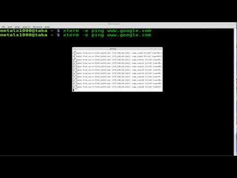 Starting a Command in a New Terminal - BASH - Linux