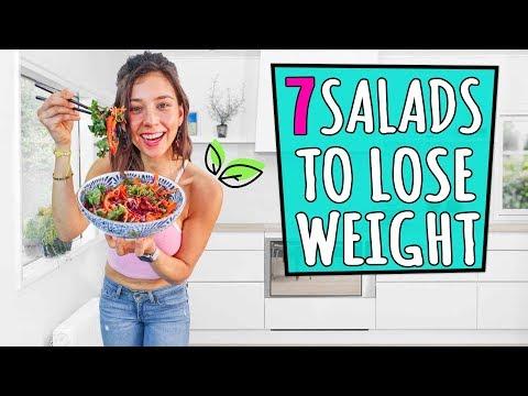 7 VEGAN SALADS TO LOSE WEIGHT!🌿Rawvana