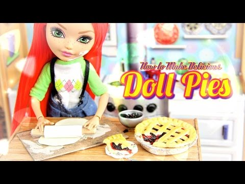 DIY - How to Make:  Doll Blackberry Pie & Cherry Pie - Handmade - Doll - Crafts