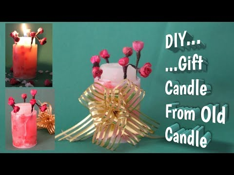 DIY Gift Candle Making From Old Candle