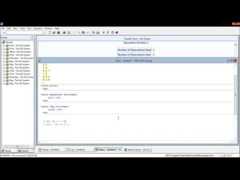 SAS - Simple Linear Regression