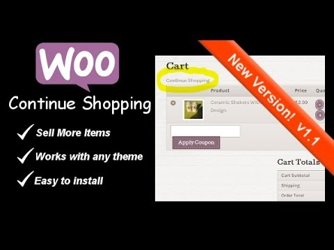 Continue Shopping Button - WooCommerce