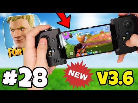 CONTROLLER SUPPORT IS ADDED IN v3.6 FORTNITE MOBILE ANDROID / IOS APP?! - Fortnite Battle Royale #28