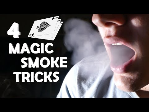 4 Amazing Smoke Magic Tricks! - Breath Smoke Out Of Thin Air!!! (Super Easy, Very Impressive)