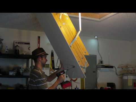 DIY Garage Vent, teamed with my Solar Attic fan. Green Garage cooling
