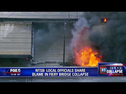 NTSB says GDOT shares blame in fiery overpass collapse