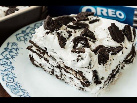 Oreo Icebox Cake - Easy Quick 3 Ingredients Cake Recipe