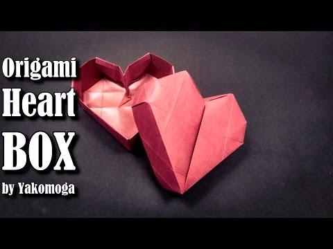 Origami Box Heart 3D - Origami easy tutorial origami gift box