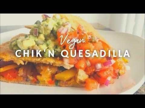 Gluten-free Vegan Chicken* Quesadilla| #8 Vegan Chickathon | How to make  Tortillas| Korenn Rachelle