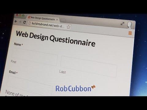 Free Web Design Questionnaire Online Form