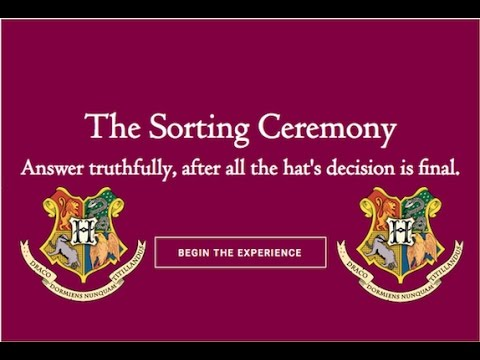 Discovering My Hogwarts House on Pottermore