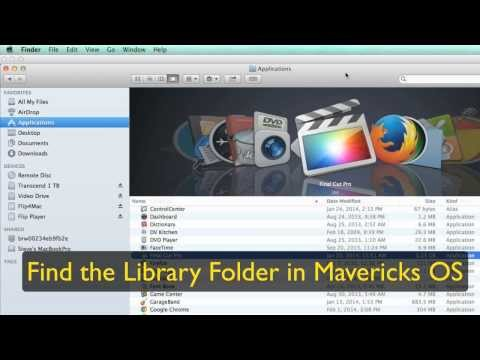 How To Find The Library Folder In Apple Mavericks OSX