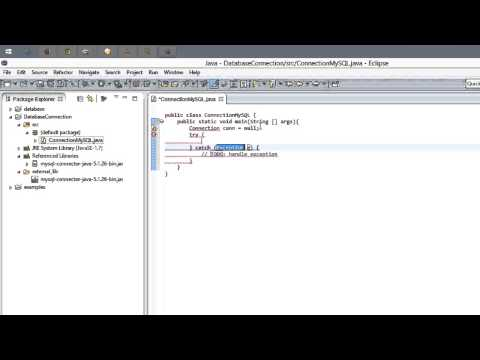 How to connect Java and MySQL in Eclipse on Windows 8.1
