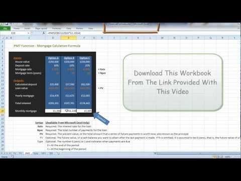 Mortgage Repayment Excel Calculation Explained