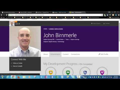 Creating your Microsoft Educator Network Profile