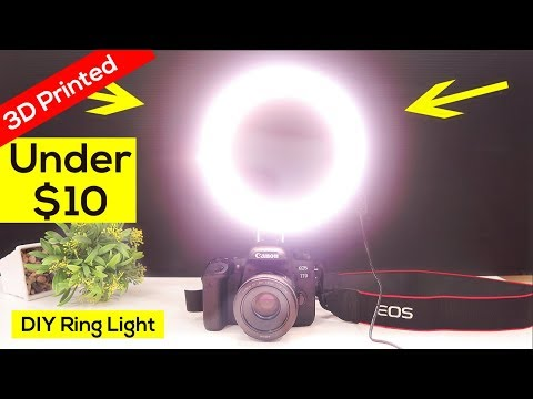 How to Make an Awesome LED RING LIGHT - 3D Printed DIY